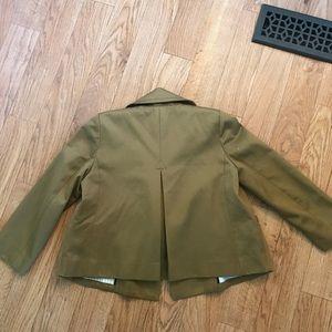 J. CREW millerain fabric tan blazer